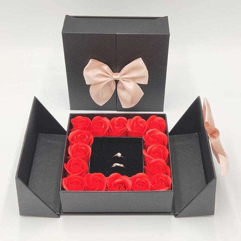 16 rosas artificiales, flores artificiales, caja de regalo, fiesta de Navidad, San...