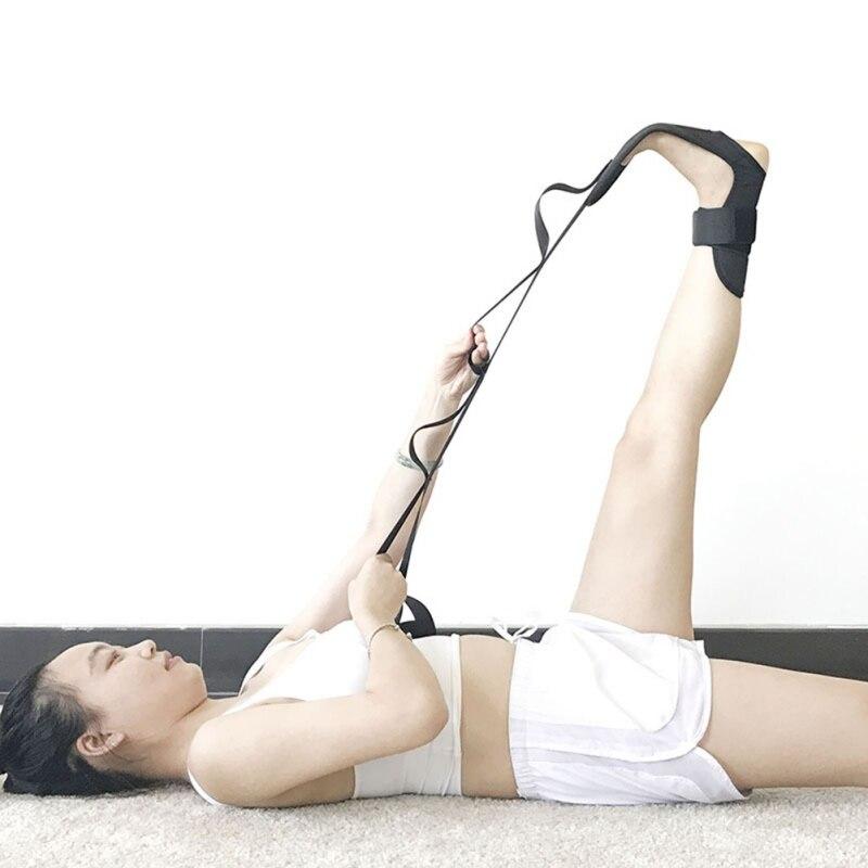 D ヨガ靭帯ストレッチベルト下垂足ストローク片麻痺リハビリストラップ脚のトレーニング足足関節補正ブレース