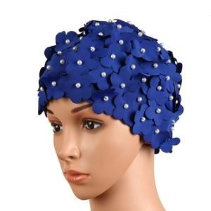 Swimming Hat Swimming Pool Flower Petal Cap Free size Summer Women Bathing Cap 8 Colors