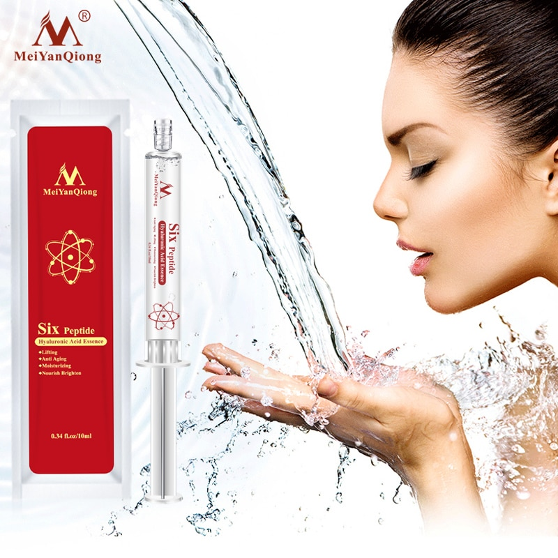 Meiyanqiong Six Peptide Hyaluronic Acid Essence Anti Aging Anti Wrinkle Lifting Face Serum Repair Concentrate Skin Care недорого