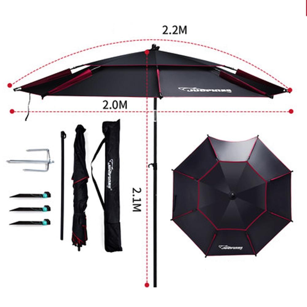 2m-2.6m 360 Outdoor Fishing Tool Umbrella Beach Camping Fold Sun Protection Anti Uv Sunshade Umbrella Waterproof Awning Rain enlarge