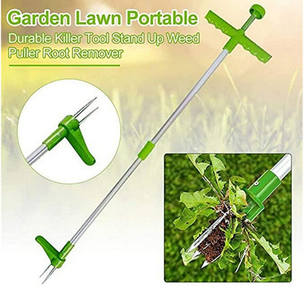 big stand up 2019 02 16t21 00 Root Remover Outdoor Killer Tool Claw Weeder Portable Manual Garden Lawn Long Handled Aluminum Stand Up Weed Puller Lightweight