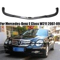 for mercedes benz e class w211 2007 2009 carbon fiber front bumper lip protector car styling