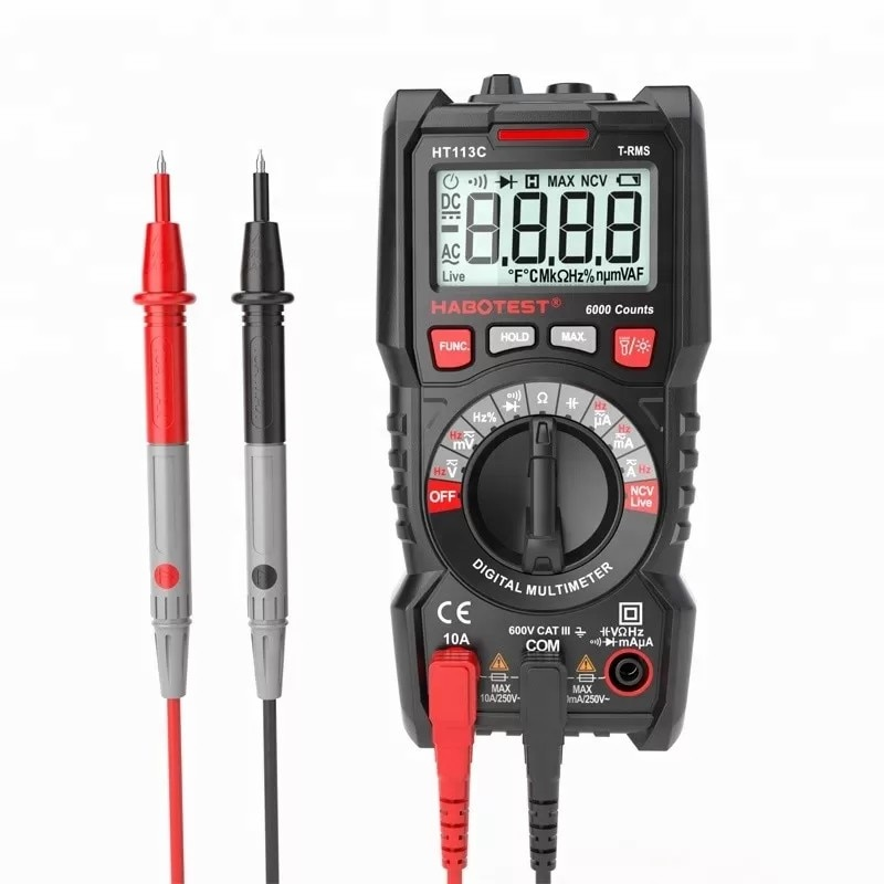 HABO-multímetro Digital automático de alta precisión... HT113A/B/C 10Hz ~ 10MHz capacitancia de...