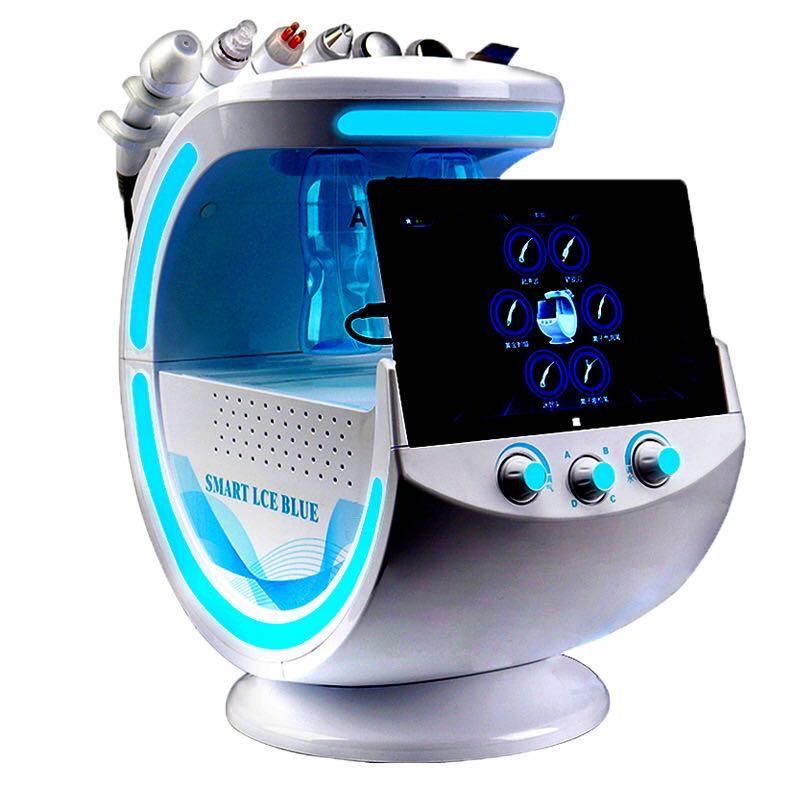 Ice Blue-analizador de piel Magic Mirror, máquina de limpieza profunda, microdermoabrasión, elevación...