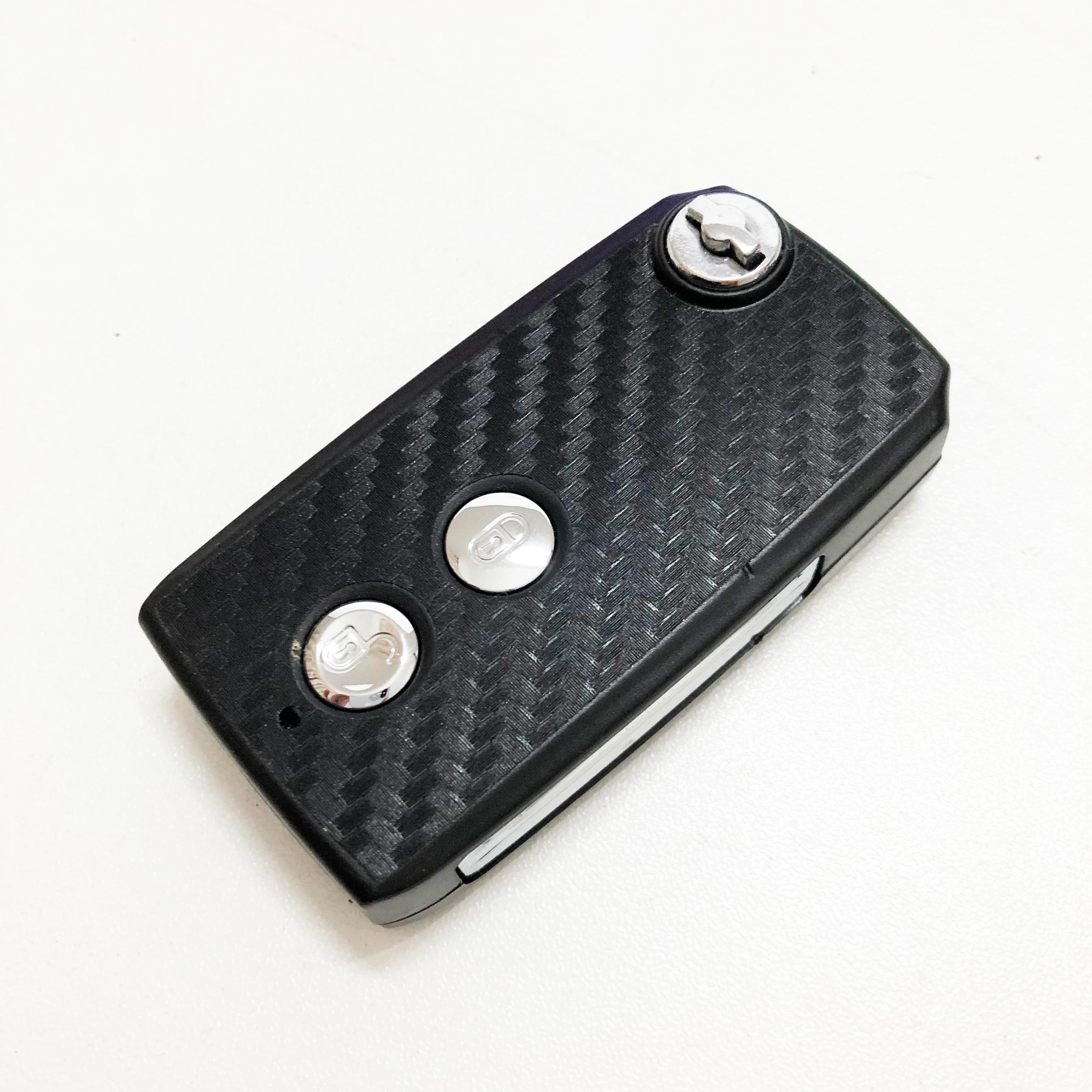 2/3 botões de dobramento remoto flid chave do carro caso capa escudo fob para hyundai sonata moinca elantra lâmina direita