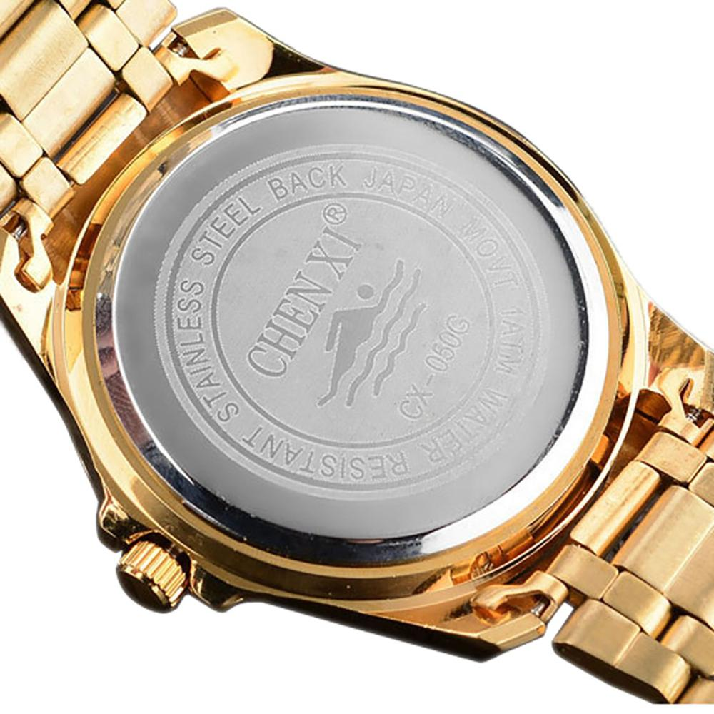 Women's Watch Fashion Quartz Wristwatch Luxury Golden Case Stainless Steel Watch Diameter 41mm enlarge