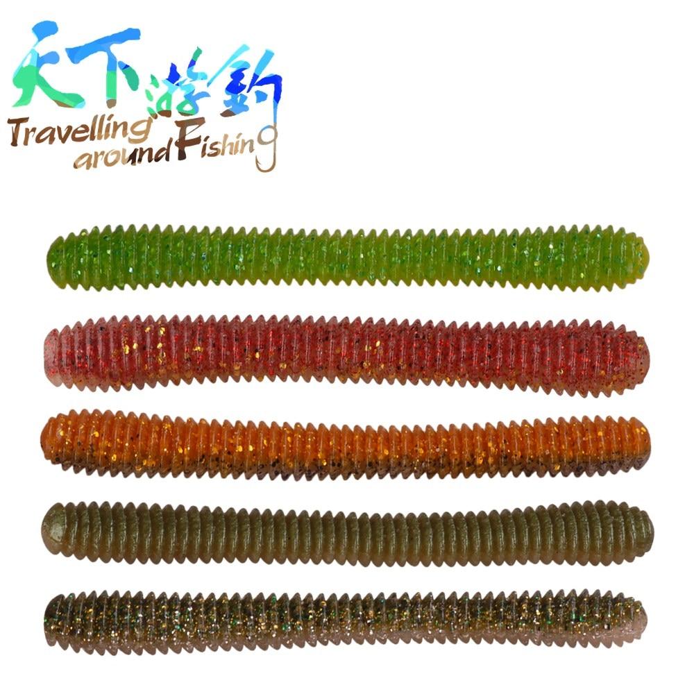 3 unids/pack señuelo suave 11,5 cm 10g cebos suaves de pesca 5 colores señuelos suaves de silicona Señuelos de Pesca señuelos de olor de señuelos Jigging Wobblers