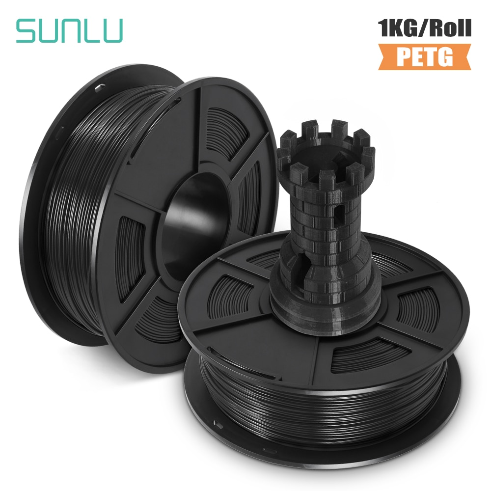 SUNLU 3D Printer Filament 1.75mm PETG White gift DIY printing sell with fast shipment пластик для 3d принтера