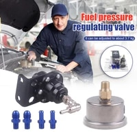 universal adjustable fuel pressure regulator with original gauge and instructions