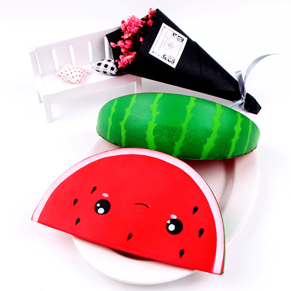 Squeeze soft Squishy Cute Smiley Watermelon Cream Squeeze Toy Slow Rising Decompression Toys Funny Gift Z0325 enlarge