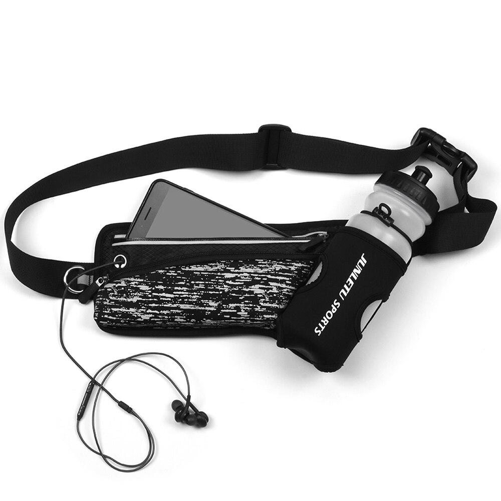 Riñonera deportiva para deportes al aire libre, para hombre y mujer, riñonera, bolsa reflectante para correr, cinturón con soporte para botella de agua