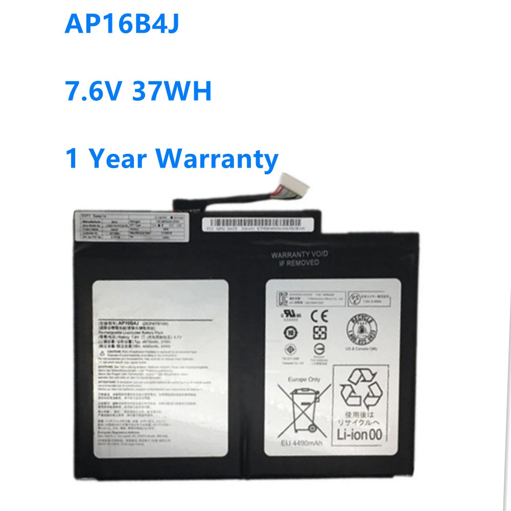 AP16B4J Laptop Battery For Acer Aspire Switch Alpha 12 SA5-27 7.6V 37WH