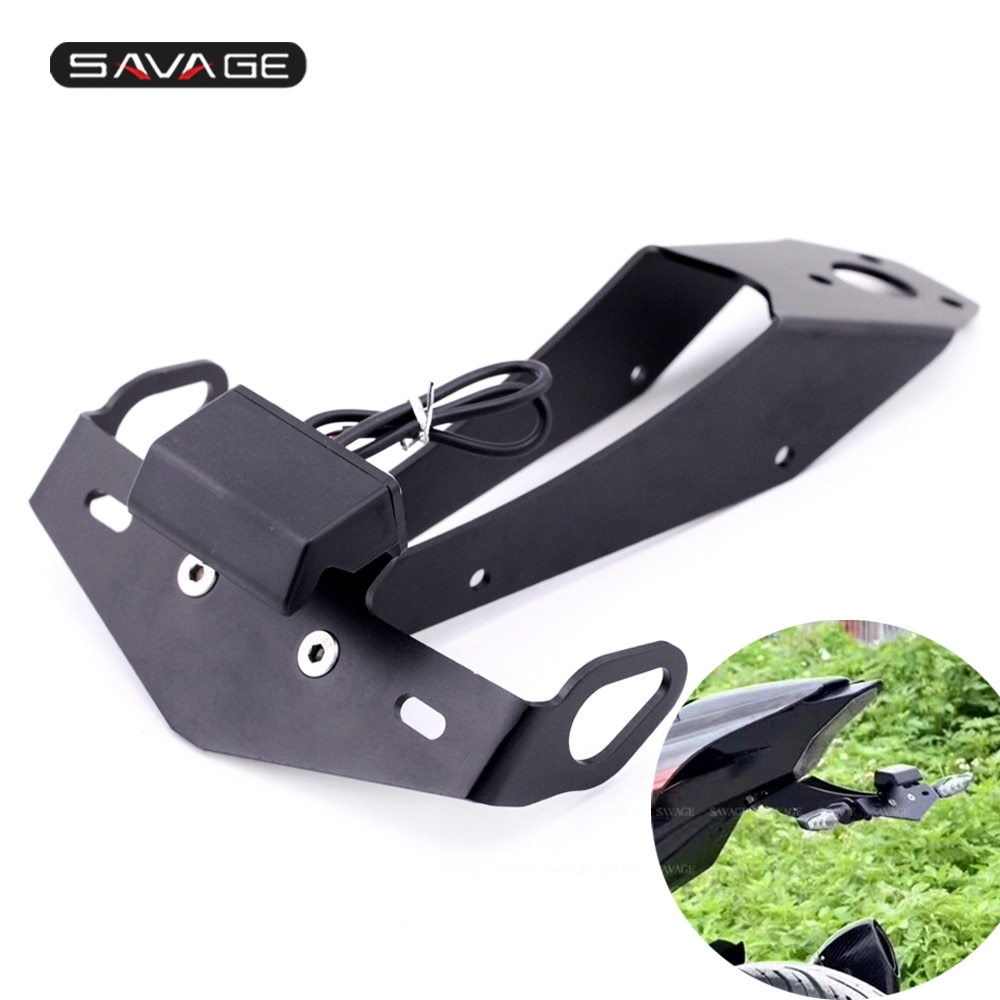 For YAMAHA YZF R1 2009 2013 2014 License Plate Support Tail Tidy Fender Eliminator LED Light Motorcycle Holder