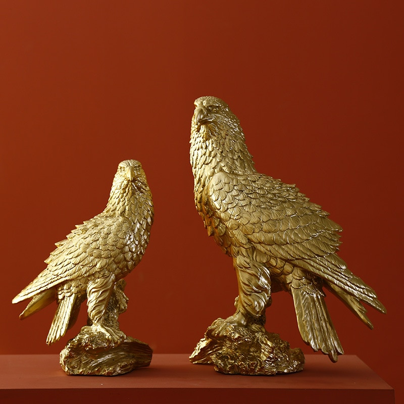 AliExpress - Nordic Light Luxury Golden Eagle Window Home Decoration Resin Decoration Crafts TV Cabinet Personality Creative Decorations