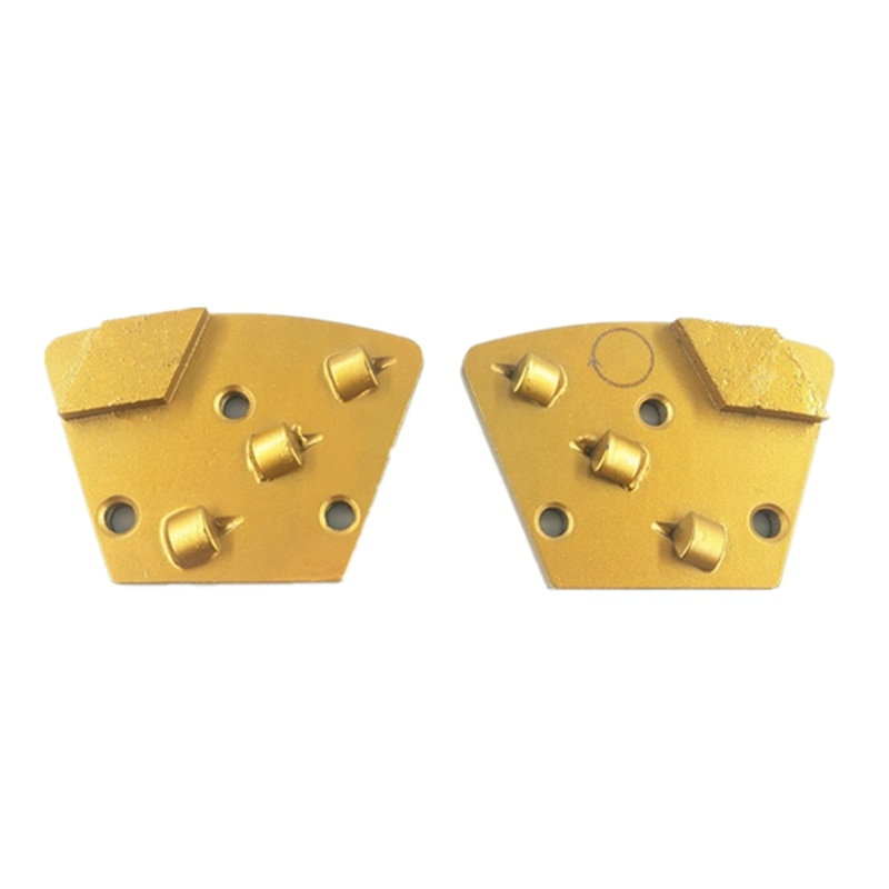 Top Qaulity  Rhombus Segments Three Quarter PCD Grinding Shoes Grinding Plate for Removing Mastic and Thicker Epoxy 12PCS