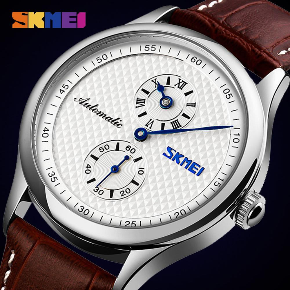 Automatic Watches Watch Men Automatic Mens Mechanical Wristwatches Creative Hollow Dial  Male Hour Clock reloj hombre New SKMEI