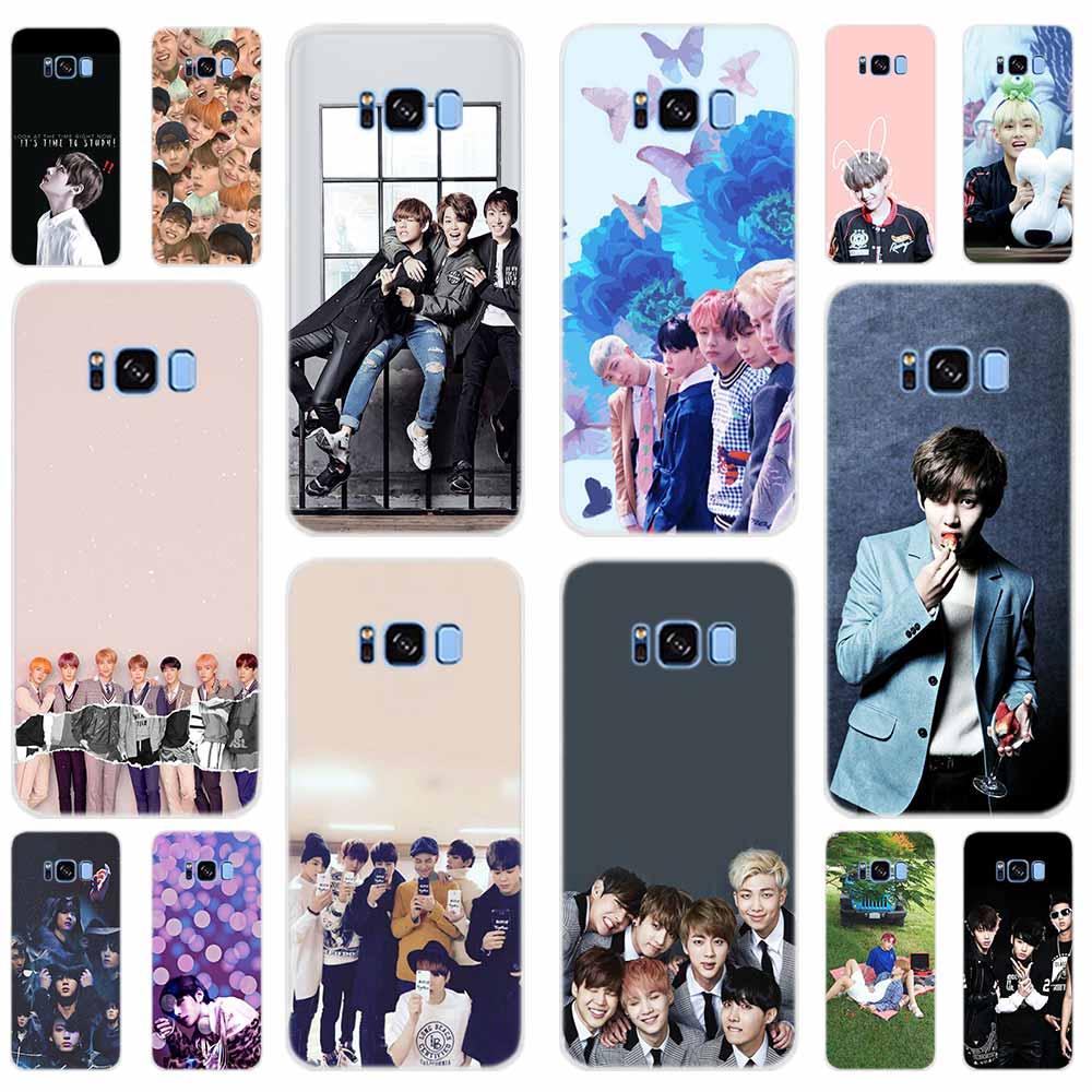 Мягкий чехол для телефона Samsung Galaxy S6 S7 Edge S8 S9 S10 S20 Plus E Note 10 Uitra Kpop Bangtan Boys Shell
