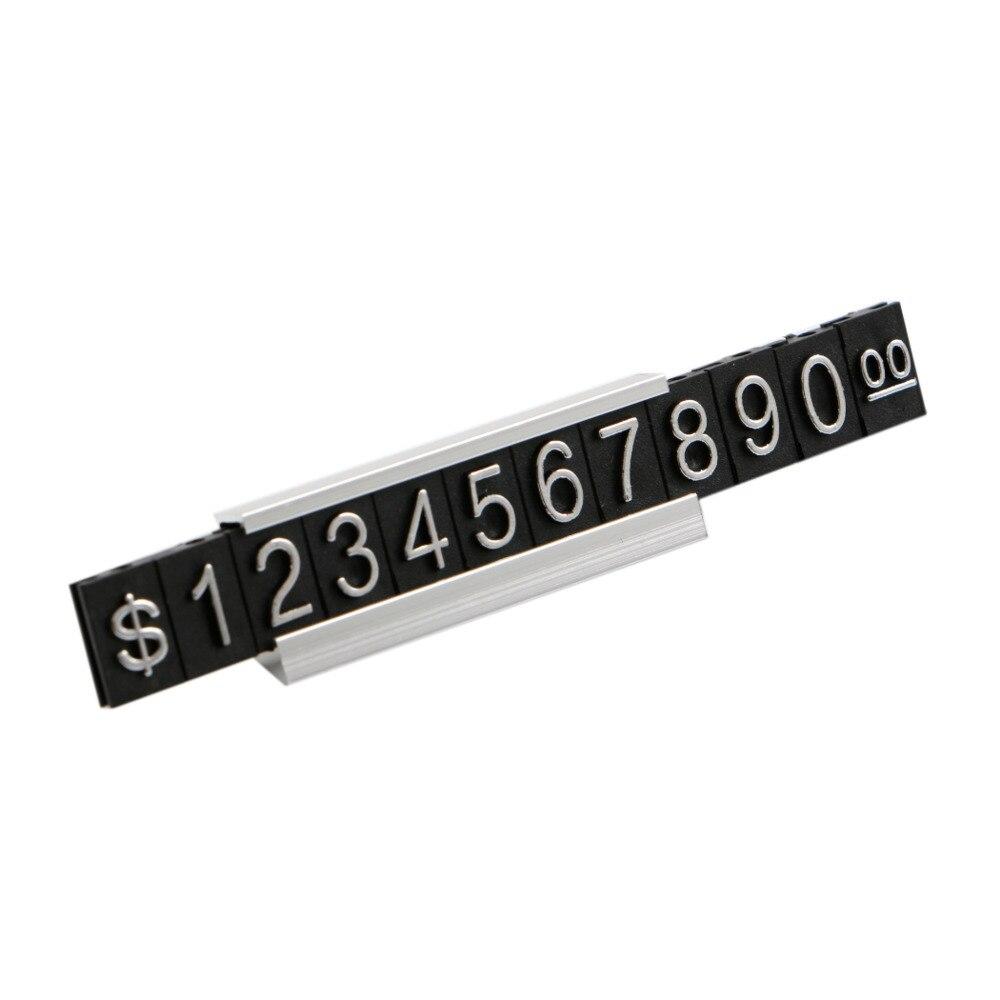 Estantería de Metal 3D, precio ajustable, etiqueta, callos, exhibición de precios, Euro...