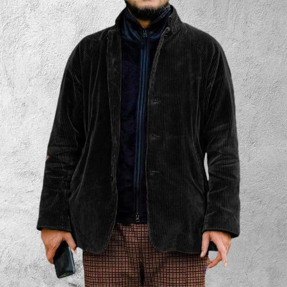 Мужские пальто/куртки, кардиганы, новинка 2021, стильный Теплый винтажный кардиган с воротником «хомут», искусственная двухкомпонентная Вель...