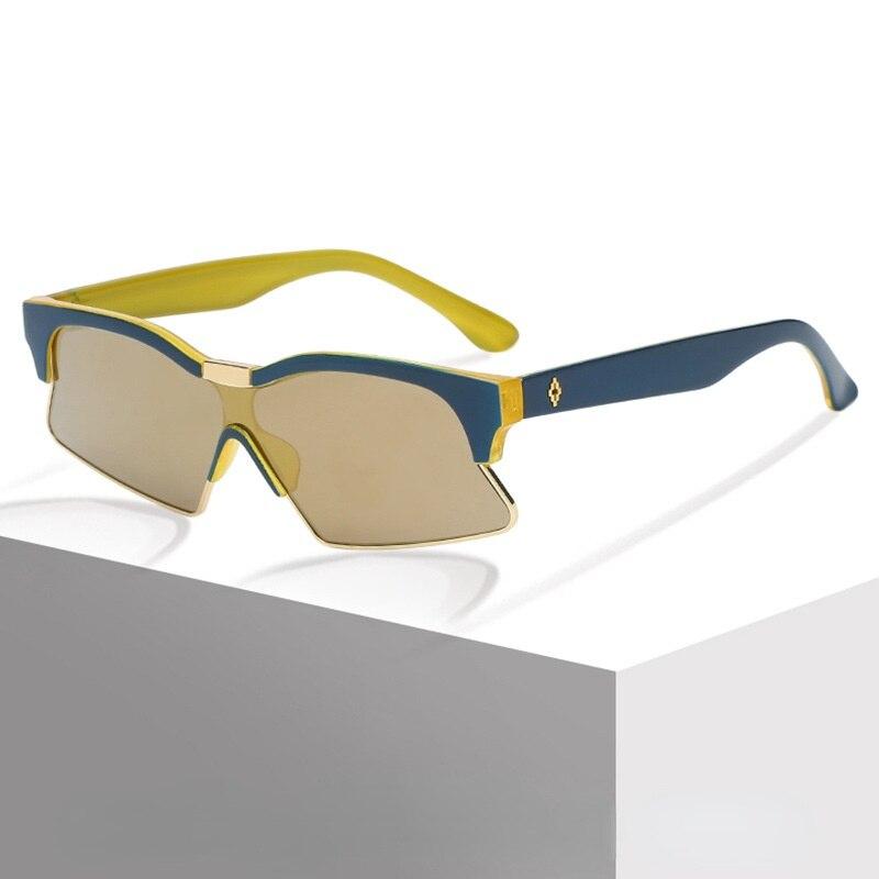New Fashion One-piece Sunglasses Retro Small Frame Irregular Sunglasses Outdoor Sports Sun Glasses Shades outdoor full frame flat lens sun shades sunglasses
