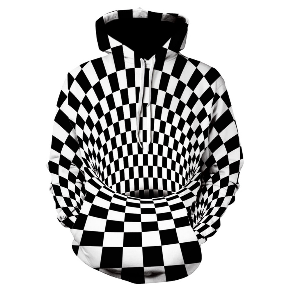 Hoodies marca 3d impressão digital vortex camisa de manga comprida streetwear hip hop com capuz casal harajuku roupas masculinas