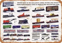 1959 lionel trains rolling stock vintage quality metal sign funny words tin sign