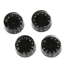 4 шт. ручки для регулировки скорости гитары, громкость, тон, детали для Gibson Les Paul, Сменные аксессуары для электрогитары (черный)