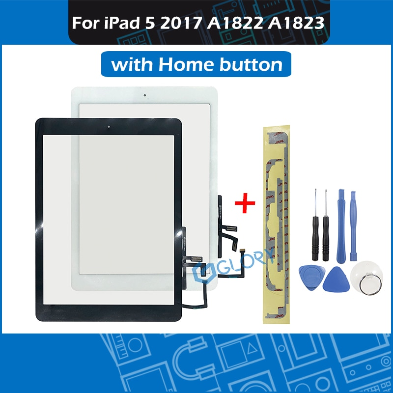 Nuevo A1822 A1823 pantalla táctil para iPad 5th 2017 Generación 5 Panel digitalizador vidrio frontal con botón de inicio