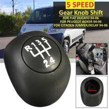 5 Speed Gear Shift Knob ABS Lever Shifter FOR FIAT DUCATO CITROEN JUMPER RELAY PEUGEOT BOXER 1994-2006 Car Gear Shift Knob