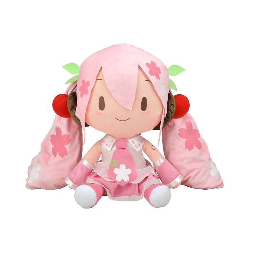 Hatsune أنيمي كبير 50 سنتيمتر ساكورا الكرتون المنتج النهائي محشوة دمى الشكل وسادة Miku الأطفال الفتيان والفتيات اليابانية هدية