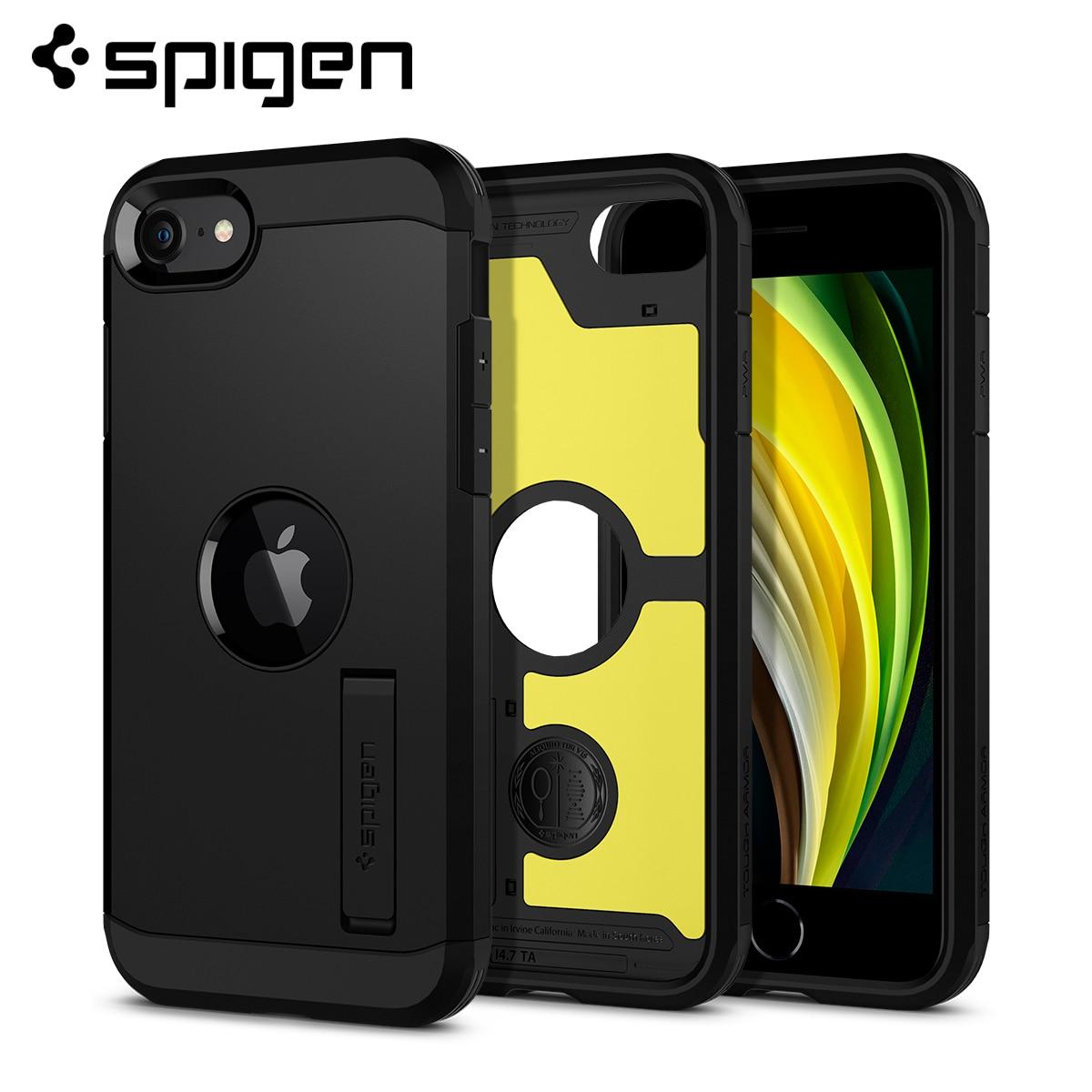 Spigen robuste armure XP étui pour iPhone SE 2020-robuste Mil-STD résistance aux chutes étuis et housses avec béquille