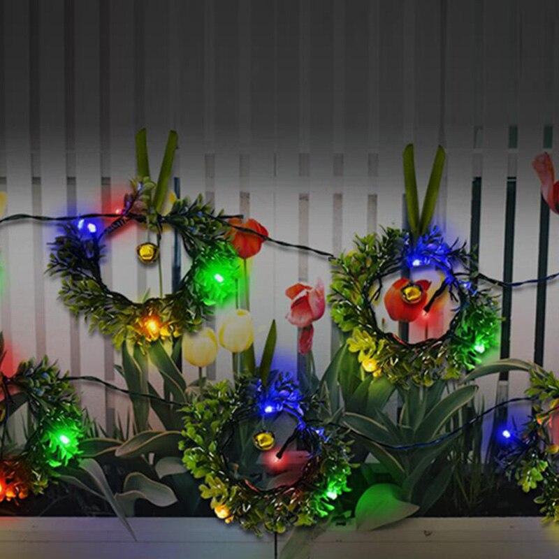 24 LED Solar Wreath Light String Christmas Lamp Solar Garland Led Light Outdoor Solar Lights For Garden Decoration Glow In Dark