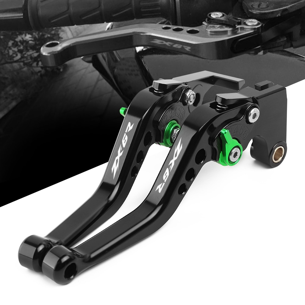 adjustable cnc billet long straight brake clutch levers for bmw f 650 700 800 r s gs gt 2008 2015 2009 2010 2011 2012 2013 2014 Logo For Kawasaki ZX6R ZX-6R ZX6R/636 2007 2008 2009 2010 2012 2013 2014-2017 2018 CNC Adjustable Motorcycle Brake Clutch Levers