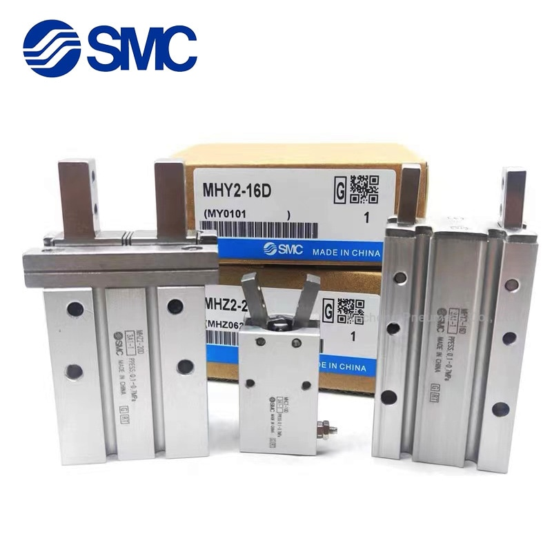 mhz2 10dn pneumatic pneumatic smc finger parallel open double acting air claw the installation hole of mhz2 10d is different MHZ2 SMC Original MHZ2-32D MHZ2-32D1 MHZ2-32D2 MHZ2-32D3 MHZ2-32S Pneumatic Finger Air Gripper Cylinder