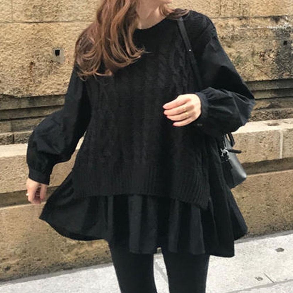 All-mat Patchwork Fall Women Sweater 2021 Long Sleeve Fashion Autumn Winter Ladies Elegant Cardigen Pullover Comfortable Popular enlarge