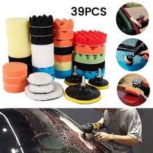 Kit de almohadillas de esponja para pulir el coche, juego de almohadillas de espuma para encerar, máquina pulidora, almohadilla de cera para eliminar arañazos, accesorio de taladro