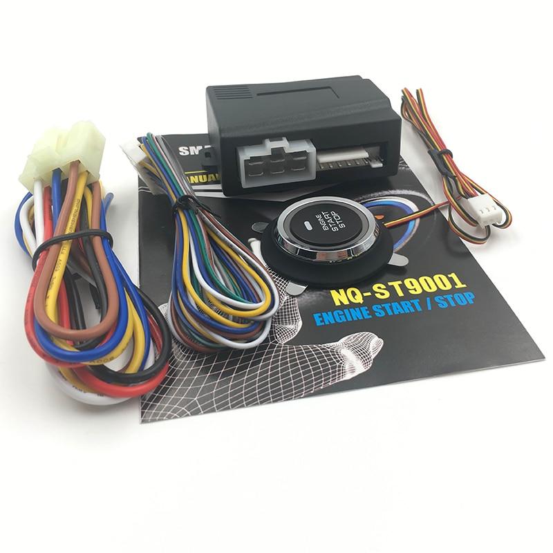 Car Alarm Car Engine Push Start Button RFID Lock Ignition Starter Keyless Entry Start Stop Anti-thef