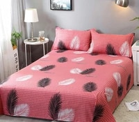 bed sheet pillowcase 3 piece set can be used to sleep naked household double cartoon single bed supplies
