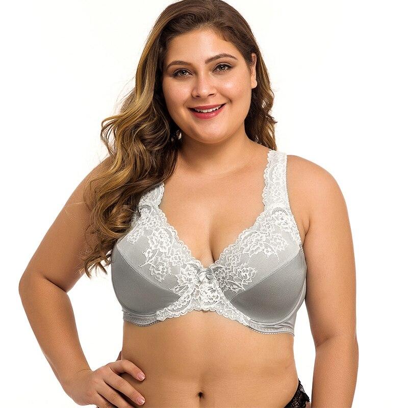 Plus tamanho das mulheres sutiã de renda lager peito underwired bralette lingerie sexy 34 36 38 40 42 44 46 48 50 52 54 ddd f ff g gg h cup