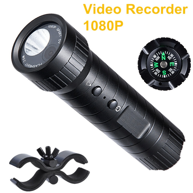 Video Recorder Camera With Night Vision LED Flashlight 2200mA with Compass Helmet Sports Action Night Camera Video DV Camcorder