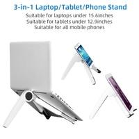 3 in 1 Phone Tablet Laptop Stand Adjustable Anti-Slip Bracket Desk Holder For iPad Macbook For SamSung Xiaomi