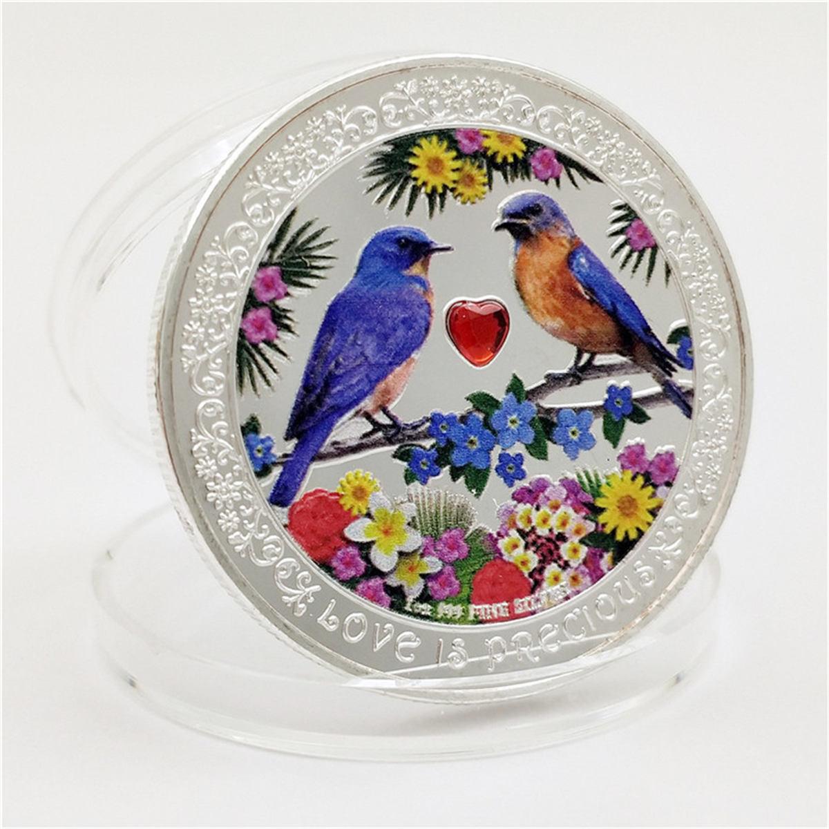 Монета в виде животного, Конго, удачная Ниуэ, любовь, птица, подарок, памятная монета, памятная монета, серебряная монета, поделки, коллекцион...