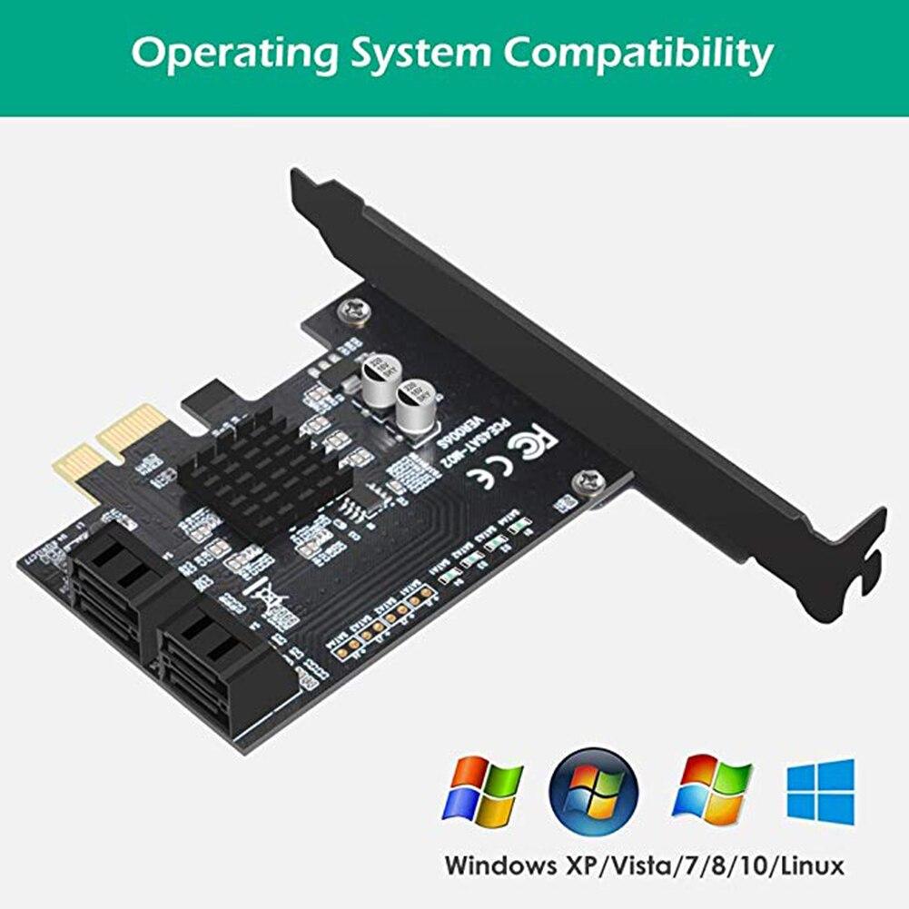 Adaptador de puerto SATA/tarjeta SATA de expansión/controlador SATA 3,0 para accesorio IPFS PCI E Add Card