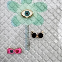 fashion enamel lapel brooch pin cute glasses brooches for women pins for backpacks jewelry wholesale