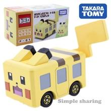 Takara TOMY Dream Tomica Pokemon figurki Pokecall Pikachu zestaw modeli do składania miniaturowe Diecast anime rysunek samochodzik hot pop zabawki dla dzieci
