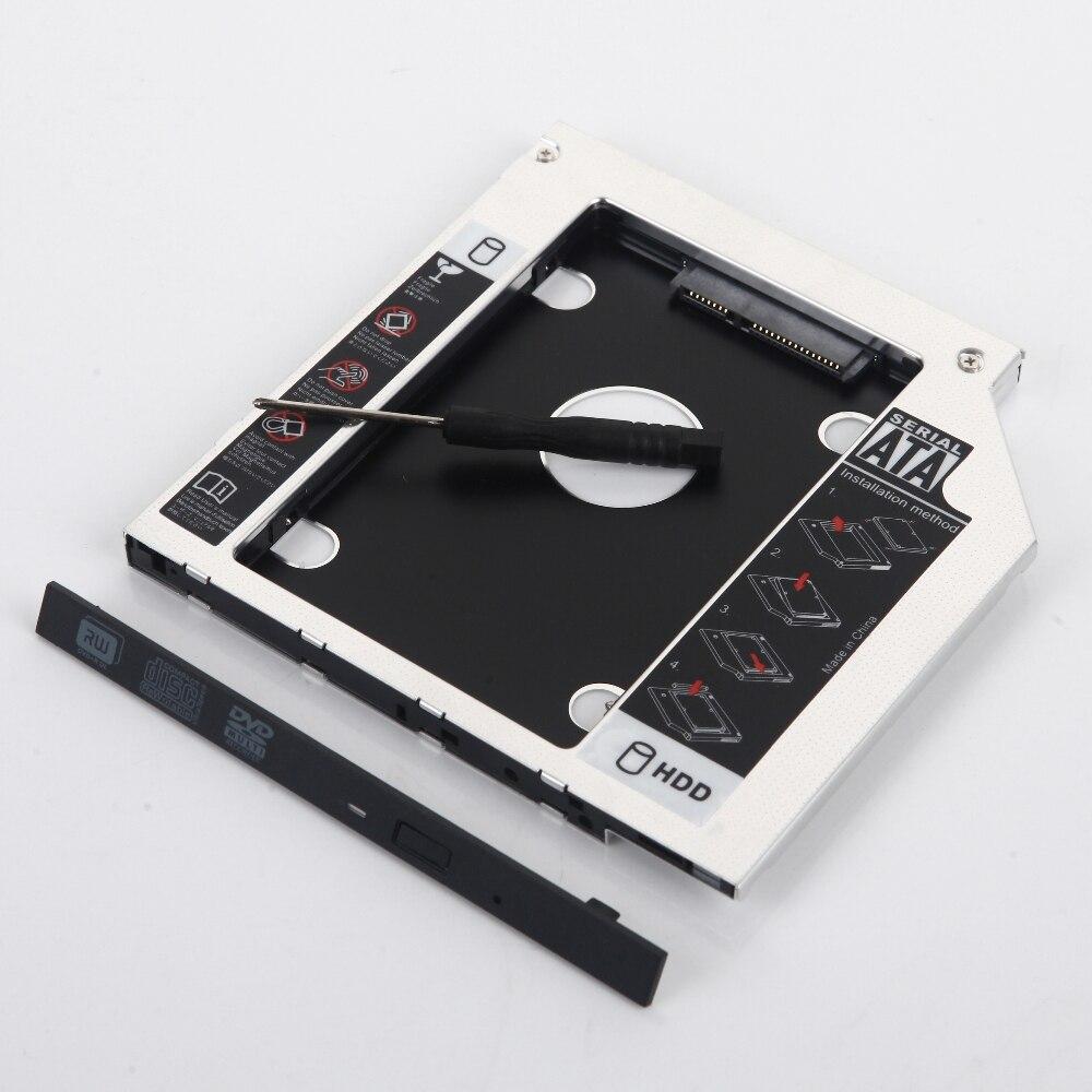 9,5mm 2nd HDD Disco Duro óptico bay Caddy marco adaptador para ASUS S550 S551 N550 K550 A450 S550C s500 S500CA
