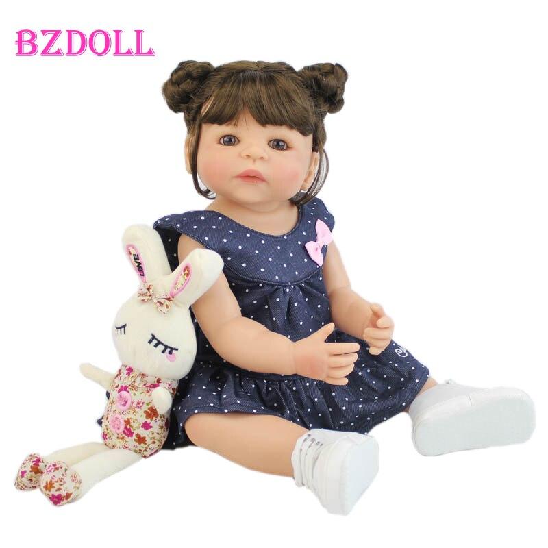 55 см полностью силиконовая виниловая Кукла Reborn Girl, Реалистичная кукла для новорожденной принцессы, игрушка для малышей, водонепроницаемый подарок на день рождения