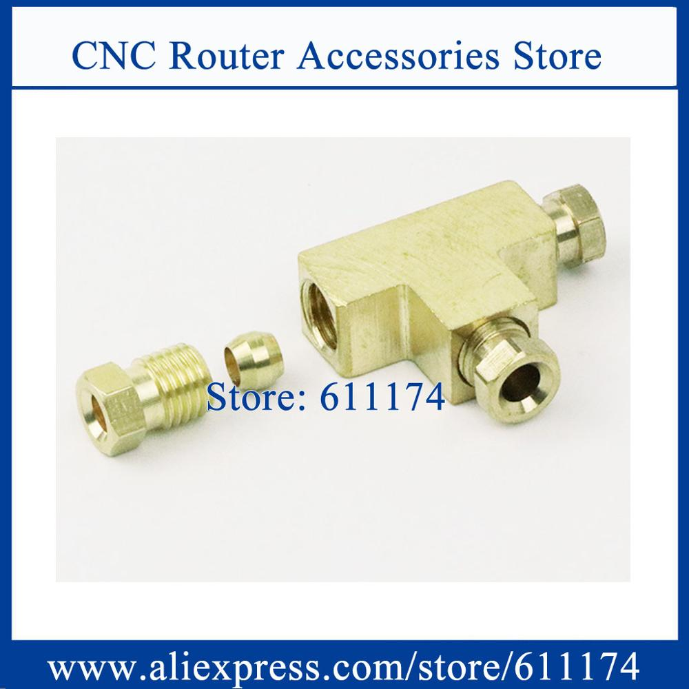 10pcs/lot two way three way 4mm/6mm screw M8 M10 grease distributor, pump oil separator