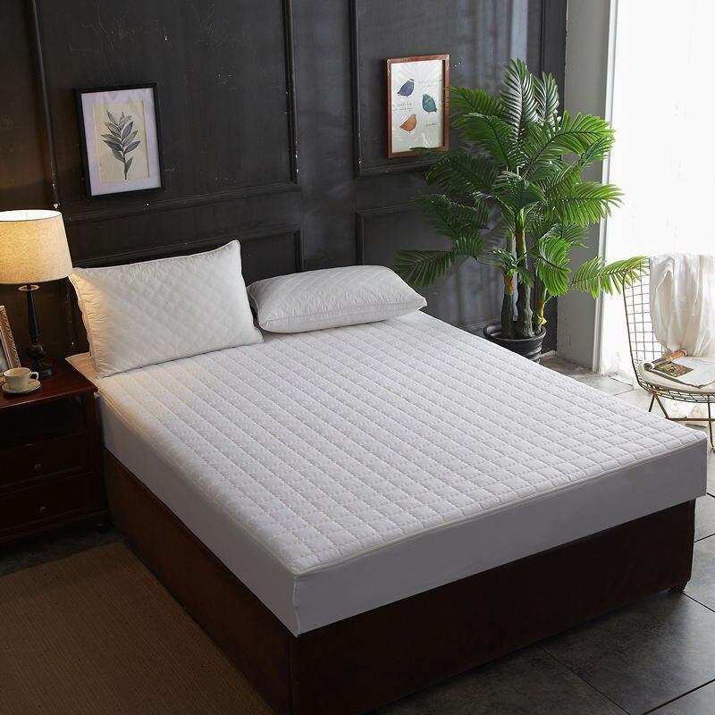 Funda de colchón lavable a máquina con cremallera desmontable, cubierta protectora suave de fibra de algodón para cama, almohadilla de protección antideslizante para colchón